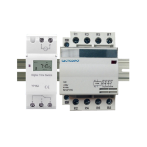 7 Day 24 Hour Programmable Timer 63A 4 Pole 120VAC